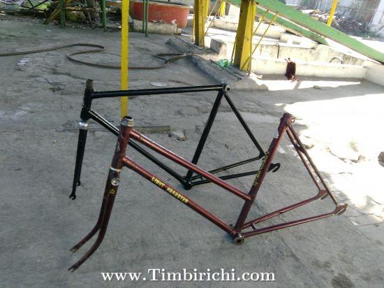 4 bicicleta de cuatro Encantos Antiguo Tono Plata TT74